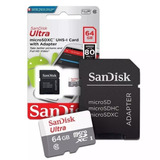 Cartao-Micro-Sd-64gb-Ultra-Classe10-Sandisk-Original-80mb_s