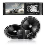 Kit-2-Vias-Pioneer-6-Polegadas-Ts-c170br-220w-4-Ohms-2-Alto-Falante-_-Mp5-Mp3-Player-Bluetooth-Radio-Central-Multimidia