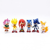 Kit-Action-Figure-Sonic--conjunto-C-6-Bonecos-Pronta-Entrega