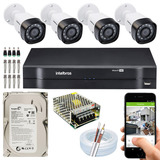 Kit-Cftv-4-Cameras-Multi-Hd-720p-1mp-Dvr-Intelbras-Mhdx-1004