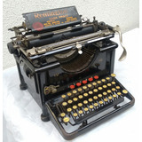 Maquina-Escrever-Antiga-Remington-12-Com-Case-De-Metal