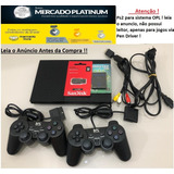 Playstation 2+ 2 Controle + 1 M.card + Pen Driver 32gb-opl!