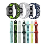 Pulseira Silicone Nke Para Apple Watch 38mm 40mm 42mm 44mm